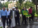 عطر بوی رضوی پرچم بارگاه ملکوتی ثامن الحج(ع) در مرکز معلولین شهید مدنی