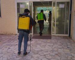ضدعفونی شدن مجموعه توسط خیراندیشان جهادگر وبسیجی